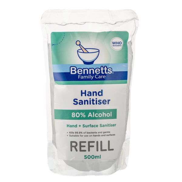 allaboutbaby-bennetts-hand-surface-sanitiser-500ml-refill